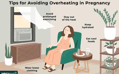 tips for avoiding overheating in pregnancy