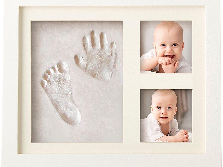 Foot Print Kit My 1st Birthday Card Present Keepsake /& Frame Baby Made Hand