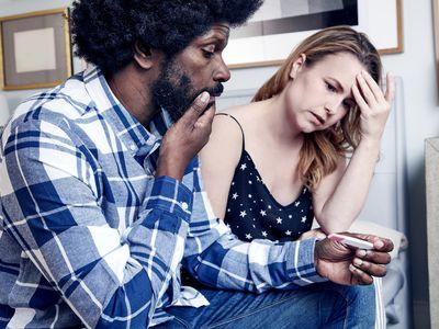 Couple sad over pregnancy test