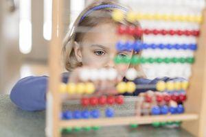 Girl using abacus