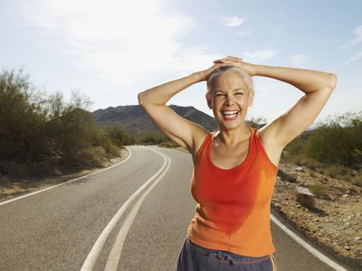 Woman in sweaty tank top - lifetime sports