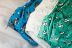 Clean, colorful cloth diapers